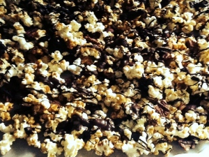 caramel corn with belgian chocolate