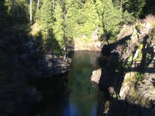 the canyon at Campbell River