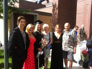 My family celebrating my graduation.